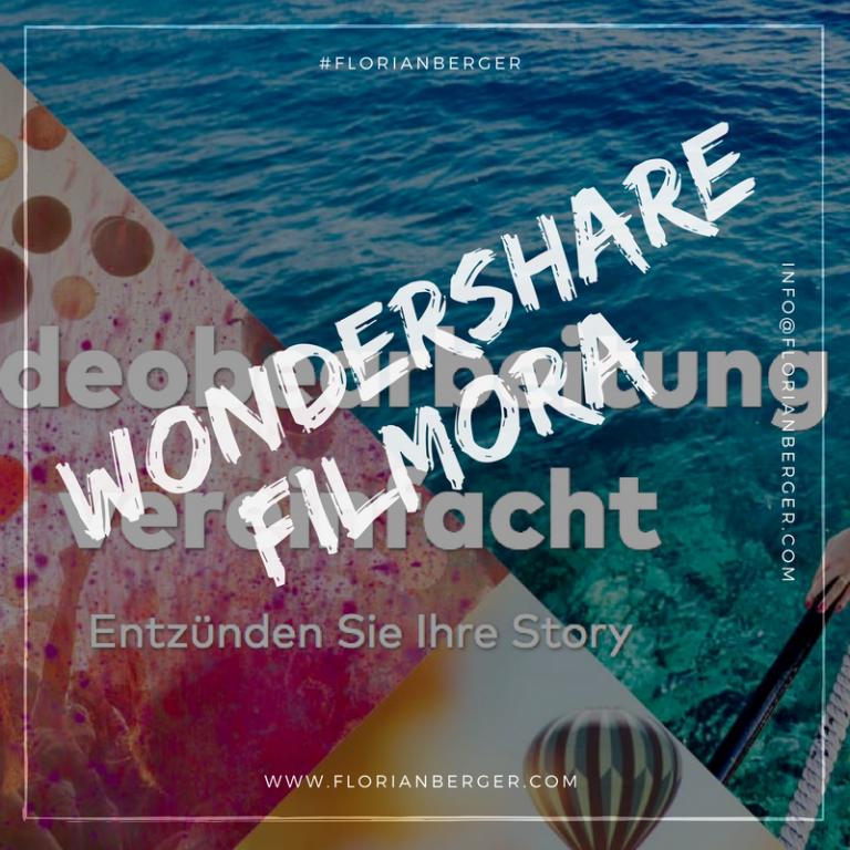 Mein Neues Schnitt Programm Wondershare Filmora